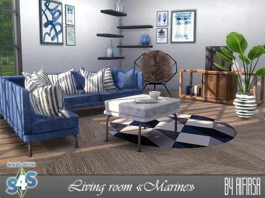 Sims 4 Marine living room at Aifirsa