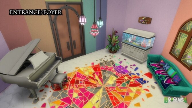 Sims 4 The Colour Castle (Rainbow Brite) by Brunnis 2 at Mod The Sims