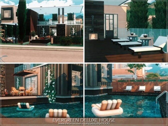 Evergreen Deluxe House by MychQQQ at TSR image 891 670x503 Sims 4 Updates