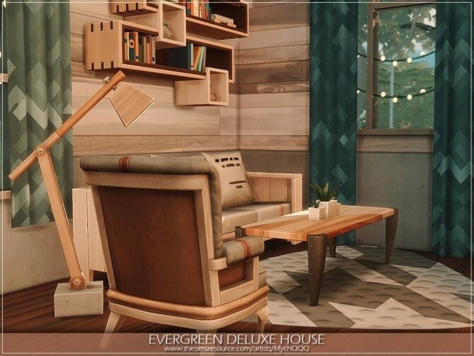 Evergreen Deluxe House by MychQQQ at TSR image 901 670x503 Sims 4 Updates
