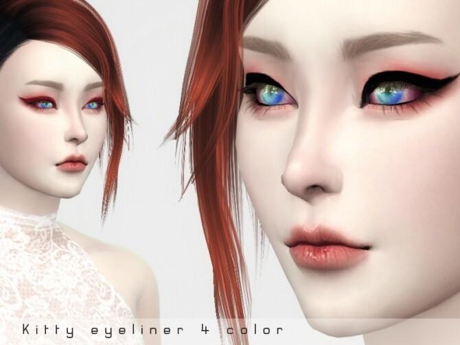 Sims 4 Kitty eyeliner by KumoBani at TSR