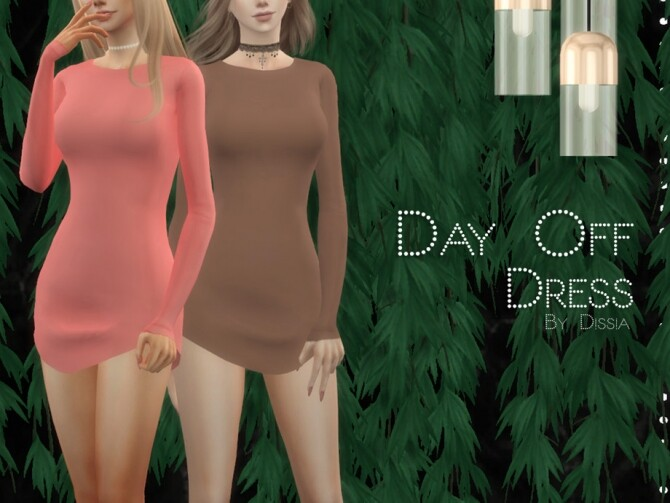 Sims 4 Day Off Dress by Dissia at TSR