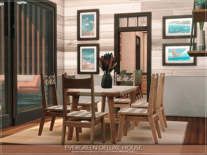 Evergreen Deluxe House by MychQQQ at TSR image 911 670x503 Sims 4 Updates