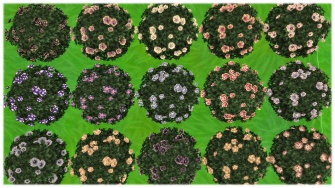 Sims 4 Yummy Dinner Plate Hibiscus Bush by Wykkyd at Mod The Sims