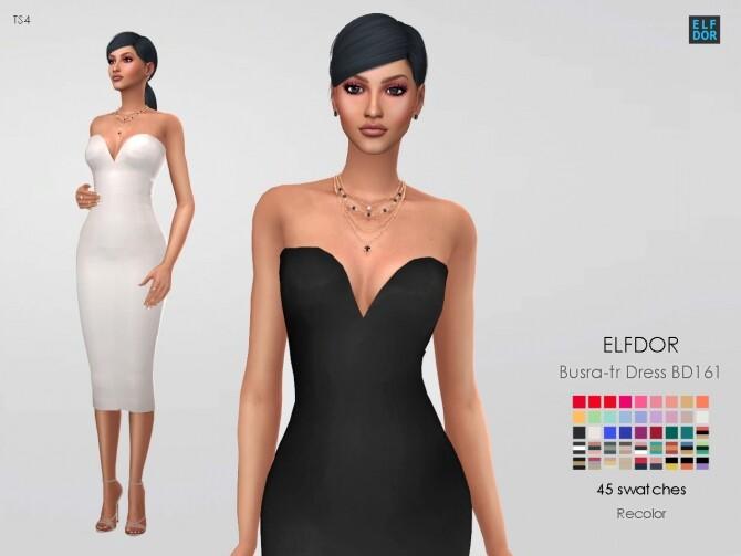 Sims 4 Busra tr Dress BD161 RC at Elfdor Sims