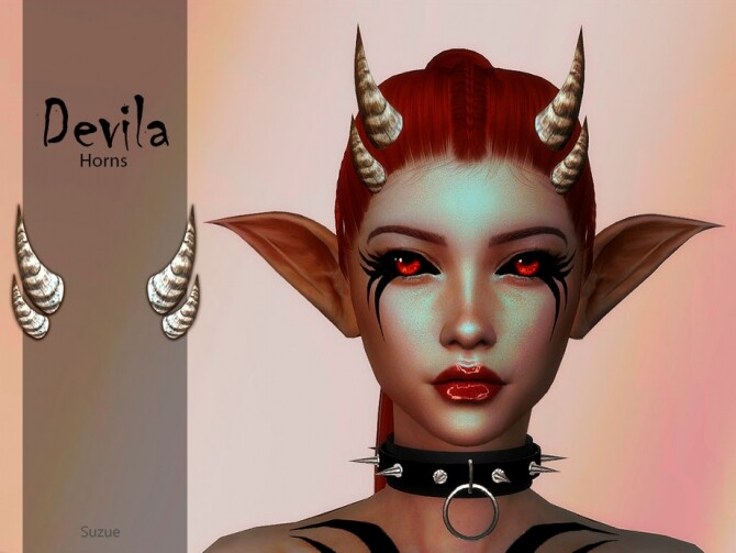 Sims 4 Devila Horns by Suzue at TSR