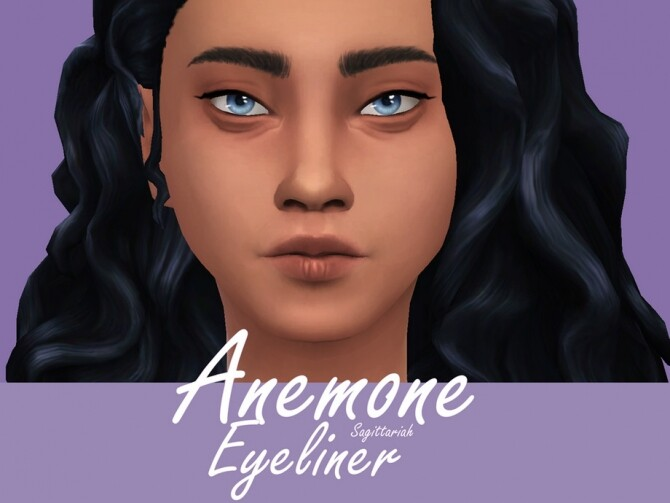 Sims 4 Anemone Eyeliner by Sagittariah at TSR