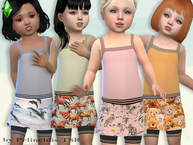 Toddler Skirt and Tank Top Set by Pelineldis