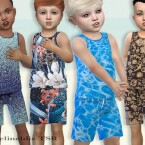 Toddler Boys Summer Set by Pelineldis