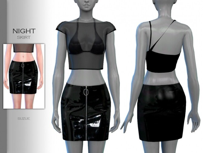 Sims 4 Night Skirt by Suzue at TSR