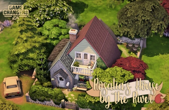 Sims 4 Rosalia Cornejo and her House by the River at Miss Ruby Bird
