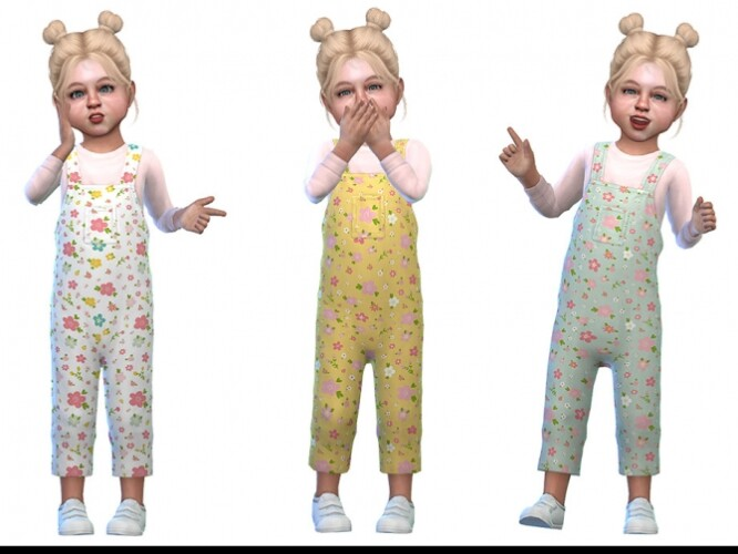 Overall for Toddler Girls 03 by Little Things
