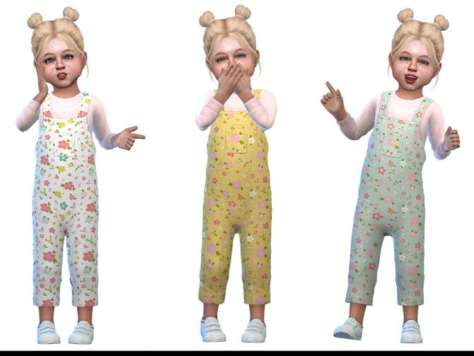 Sims 4 Overall for Toddler Girls 03 by Little Things at TSR