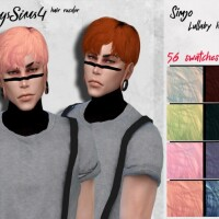 Simjo Lullaby male hair recolor by HoneysSims4
