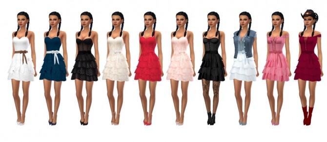 Sims 4 BG FRILLY DRESS at Sims4Sue