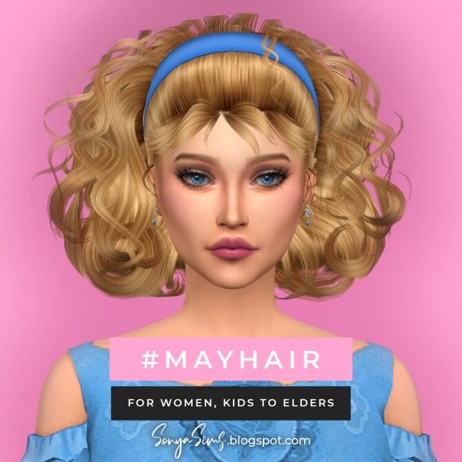 Sims 4 Belo & May hairs at Sonya Sims