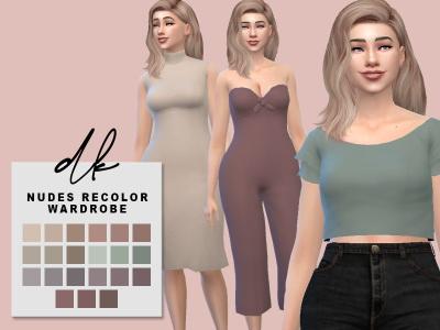 Sims 4 Wardrobe Recolours at DK SIMS