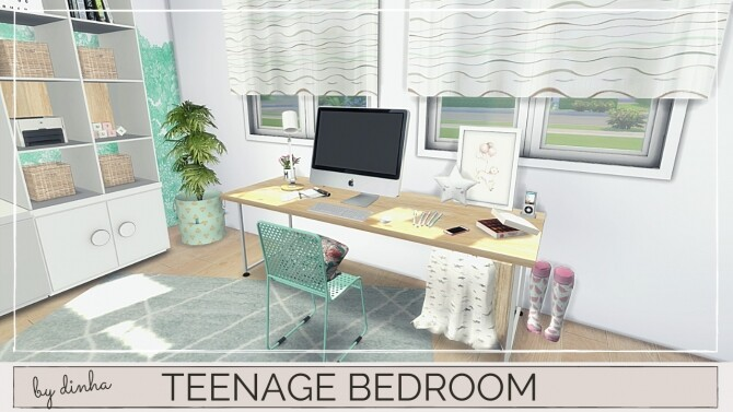 Sims 4 TEENAGE BEDROOM at Dinha Gamer