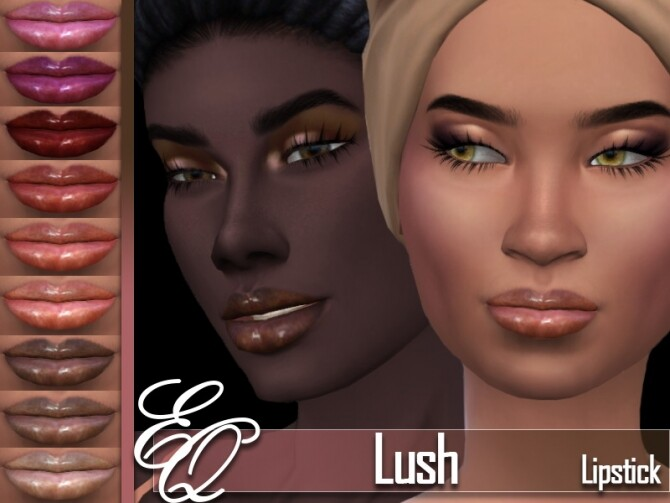 Sims 4 Lush Lipstick by EvilQuinzel at TSR