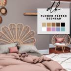 Flower Rattan Bedhead