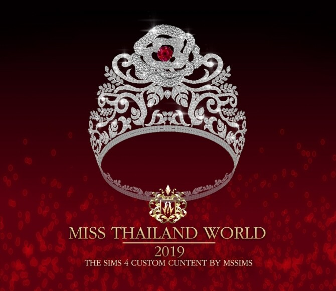 MISS THAILAND WORLD 2019 CROWN at MSSIMS image 965 670x580 Sims 4 Updates