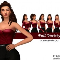 Full Variety Poses for the CAS by Beto_ae0