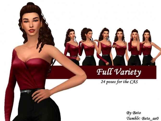 Sims 4 Full Variety Poses for the CAS by Beto ae0 at TSR