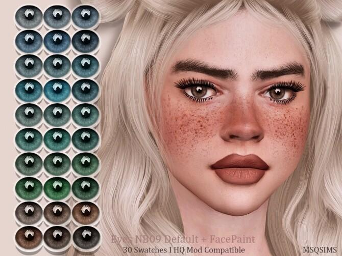 Sims 4 Eyes NB09 Default + FacePaint at MSQ Sims