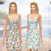 Summer Cotton Dress PF140 by Pinkfizzzzz