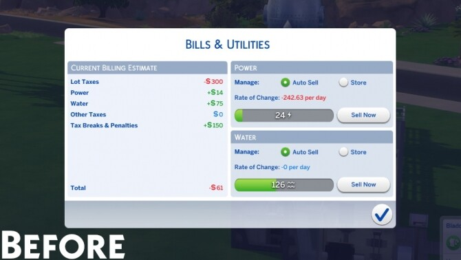 Fix Capped Lot Taxes/Bills (Eco Lifestyle Patch) by zhanbow at Mod The Sims image 9810 670x378 Sims 4 Updates
