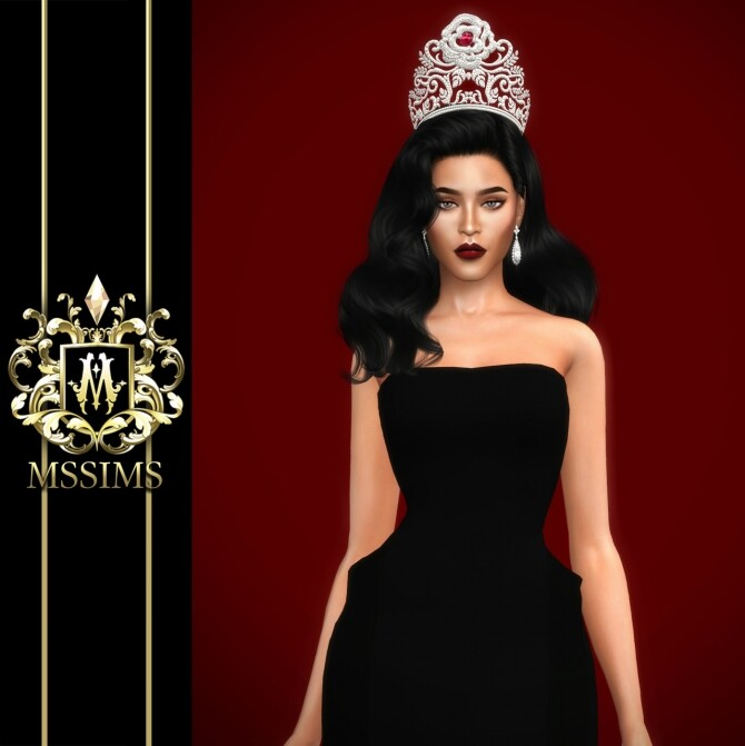 Sims 4 MISS THAILAND WORLD 2019 CROWN at MSSIMS