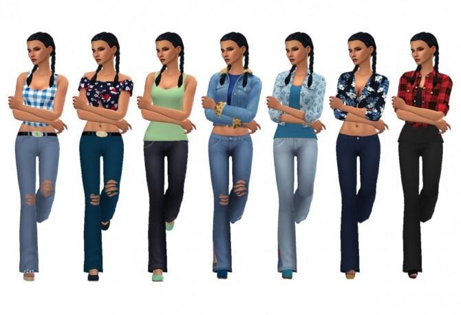 Sims 4 BG BOOTCUT JEANS at Sims4Sue