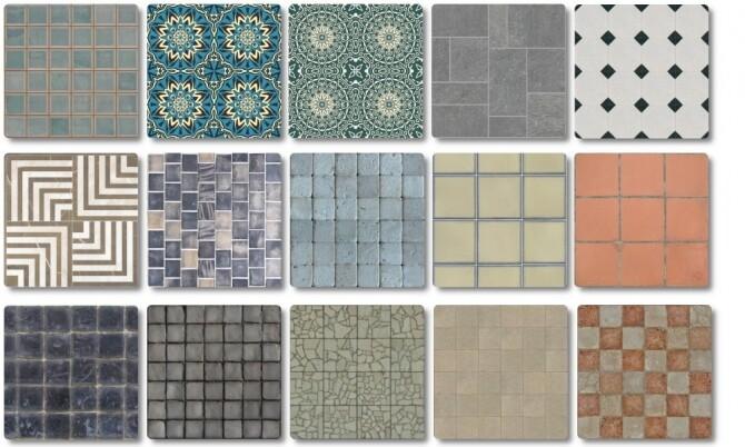 Sims 4 Floor Tile Collection at TaTschu`s Sims4 CC
