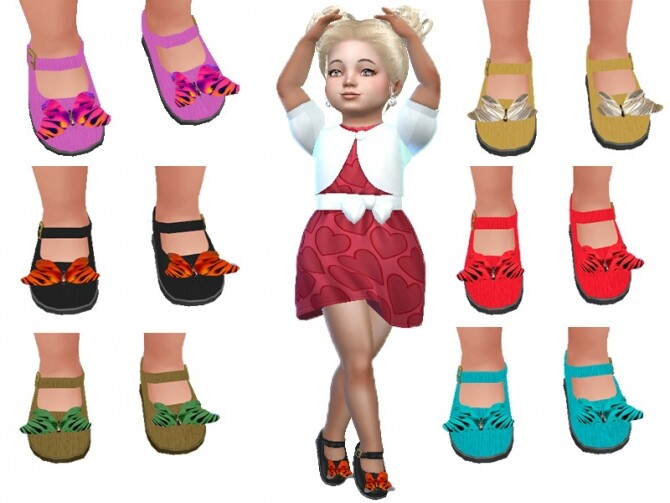 Sims 4 Butterfly toddler shoes by TrudieOpp at TSR