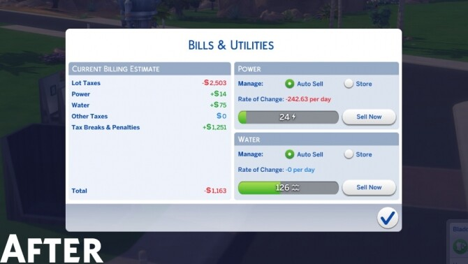 Fix Capped Lot Taxes/Bills (Eco Lifestyle Patch) by zhanbow at Mod The Sims image 9910 670x378 Sims 4 Updates