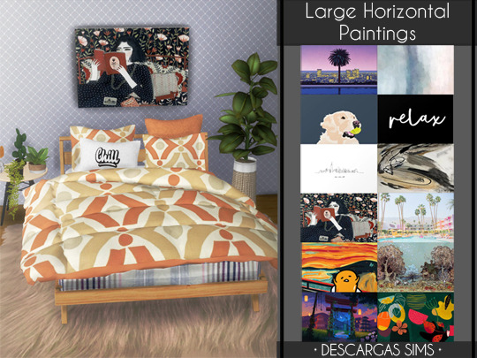 Sims 4 Large Horizontal Paintings at Descargas Sims