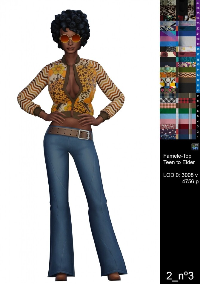 Sims 4 Nº3 jacket by Guala at Mod The Sims