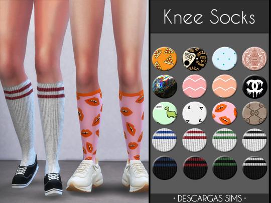Sims 4 Knee Socks at Descargas Sims