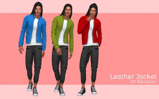 Sims 4 Leather jacket at Midnightskysims