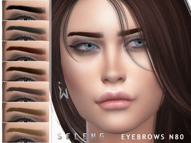 Eyebrows N80 by Seleng at TSR image 1023 670x503 Sims 4 Updates