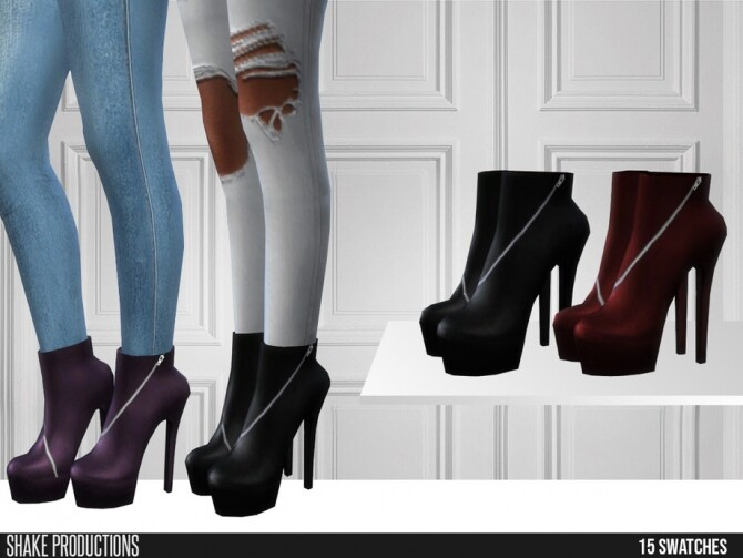 484 Leather Boots by ShakeProductions at TSR image 1032 670x503 Sims 4 Updates