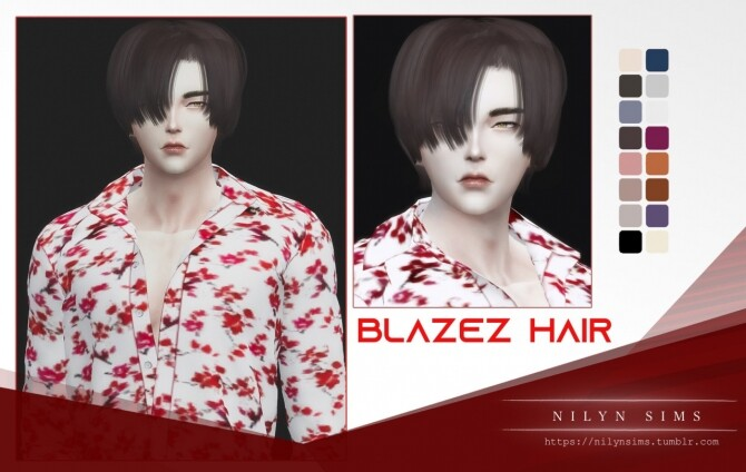 Sims 4 BLAZEZ HAIR at Nilyn Sims 4