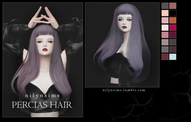 Sims 4 PERCIAS HAIR at Nilyn Sims 4