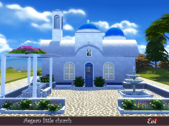 Aegean little church by evi