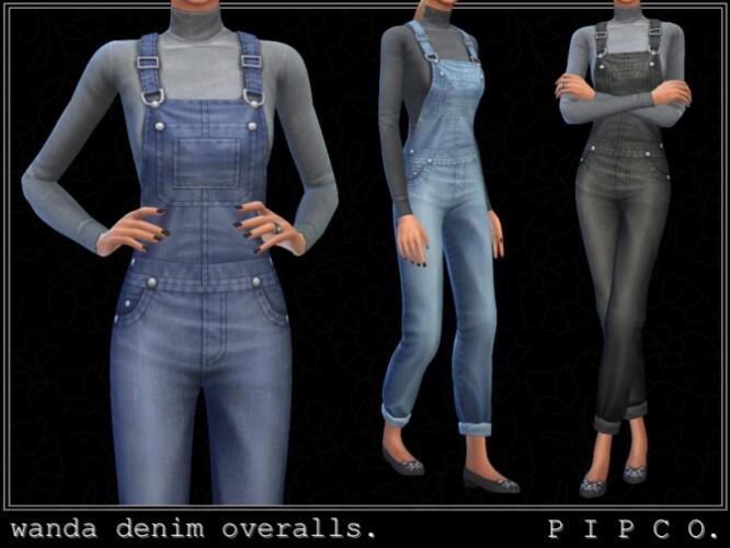 Wanda denim overalls by Pipco