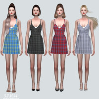 Pleats Mini Dress V2