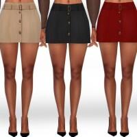 Cotton Mini Button Skirts by Saliwa