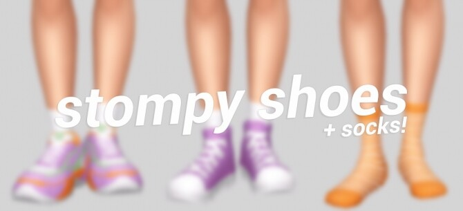 stompy shoes socks