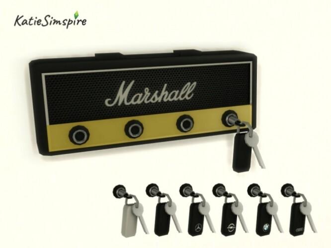 Marshall Guitar Amp Key Holder by Katiesimspire