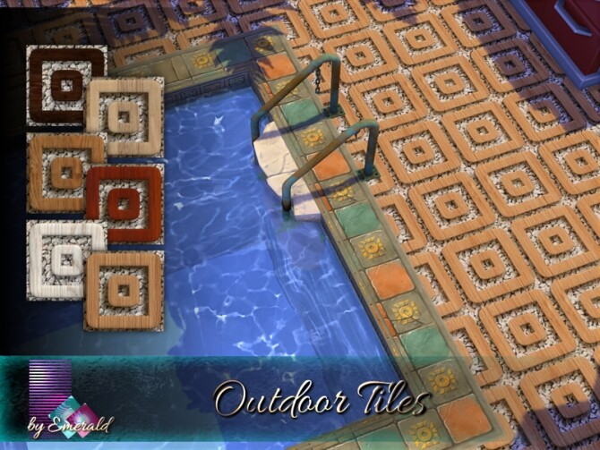 Sims 4 Outdoor Tiles by emerald at TSR
